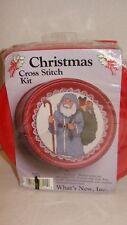 Santa Christmas Cross Stitch Kit What's New Decorative Tin #028111