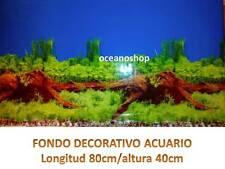 FONDO DECORATIVO ACUARIO longitud 80cm altura 40cm plantado terrario pecera D446