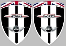 2 adhésifs stickers MINI JOHN COOPER WORKS JCW MIDNIGHT BLACK ( ailes avant)