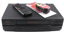 Symphonic SL2920 4 Head VCR Video Cassette Recorder With Remote Control A/V Cord
