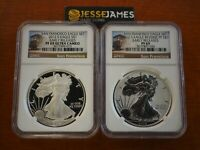 2012 S REVERSE PROOF SILVER EAGLE NGC PF69 /69 SAN FRANCISCO SET TROLLEY LABELS