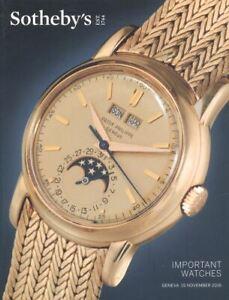 Sotheby's Catalogue Geneva, Important Watches 15 November 2016 HB
