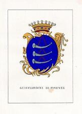 Araldica stemma araldico della famiglia Guicciardini di Firenze