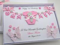 Personalised Handmade New Baby Girl/Boy 1st Birthday Card Gift Box