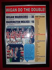 Wigan Warriors 30 Warrington Wolves 16 - 2013 gran final-enmarcado impresión