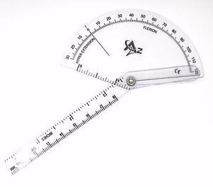Finger Goniometer Measure Flexion / Hyper-extension Clear Plastic