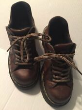 DOC DR MARTENS AirWair Women's Saxon 8312 Brown Tan Leather Shoes US 6