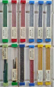 Mines Gilbert critérium couleurs  lot de 12 boites anciennes série SNCF