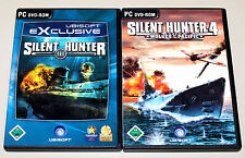 2 PC Giochi Set-SILENT Hunter III IV 3 4-U BOOT simulazione Wolves of Pacific