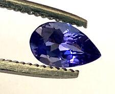 EGL USA 0.92 Ct Natural Oval Tanzanite Loose Gemstone Pear Shape Appraised $600