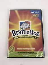 Brainetics: DVDs 3-5 - Math, Memory, Amazing!   NEW SEALED