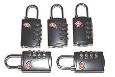5 Black SKB 4 dial resettable combination TSA Case Luggage Travel Lock