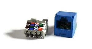 Panduit CJ688TBU Mini Com TX6 Plus Giga Channel Cat6 Jack Module, Blue Qty 24