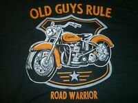 "OLD GUYS RULE "" ROAD WARRIOR "" LEGEND MOTORCYCLE T-SHIRT SIZE XXL"