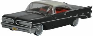 OXFORD AUTOMOBILE PONTIAC BONNEVILLE COUPE 1959 REGENT BLACK/WHITE 87PB59004