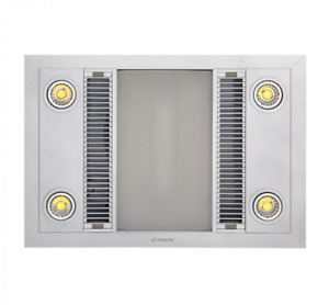 Martec Linear LED 3in1 Bathroom Heater White with High Extraction Exhaust Fan