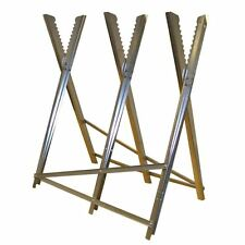 Heavy Duty Metal Saw Horse Sawhorse RocwooD Chainsaw Cutting Logs Wood Burners