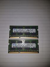 SAMSUNG 16GB DDR3 8GBX2 1600MHz 12800S LAPTOP MEMORY RAM DIMM SO-DIMM MODULES