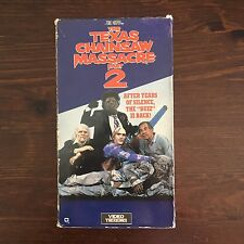 The Texas Chainsaw Massacre 2 VHS Video Treasures Tobe Hooper Horror Gore