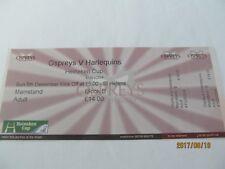 Unused Ticket, Heineken Cup. Ospreys v Harlequins. St. Helens, Swansea.
