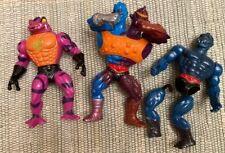 3 Vintage MOTU HE-MAN 1984-TWO-BAD 1981-WEBSTOR 1985-TUNG LASHOR Figures Rare