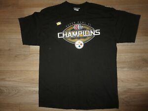 Pittsburgh Steelers 2009 Super Bowl XL 43 NFL Reebok Team Shirt LG L NEW