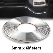 6mm Car Styling Chrome Interior Decorative Strip Trim Moulding Cover Door Window