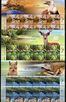 ISRAEL 2015 RIVERS  SET OF THREE DECORATIVE SHEETS OF EIGHT STAMPS EACH  MINT NH