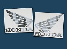 Sticker Set Honda für Helm o.ä. - Design chrom spiegelnd
