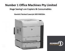 HP Laserjet Enterprise 600, M603dn Network Print,Duplex,2 Drawer,1 Year Warranty