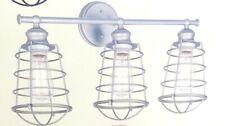Ajax 3-Light Galvanized Indoor Vanity Light #519728 DESIGN HOUSE