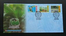 100th Anniversary of Forestry Tree Plant Map Satellite Malaysia 2001 (stamp FDC)