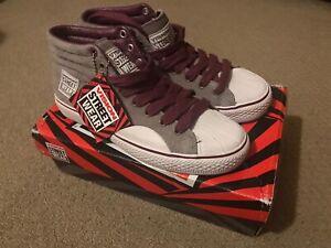 Womens Vision Streetwear Shoe Suede Hi Grey/Purple Size 5.5