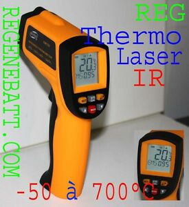 Thermomètre Pro visée l laser sans contact -50°C a 700°C infrarouge à distance