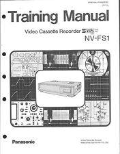 Panasonic service training manual pour NV-FS 1