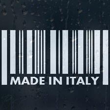 Made In Italy Barcode Car Phone Laptop Decal Vinyl Sticker Colour Choice