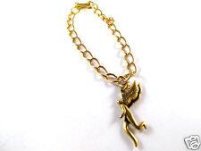 Laurel Burch Antique Finish Goldtone Link Braclet Walking Angel Vintage New