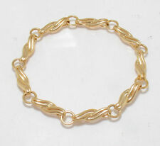 "Shiny Twisted Bracelet 14K Yellow Gold 7"" 9.2grams"