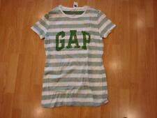 NWT Women Gap Striped arch logo T GREEN M