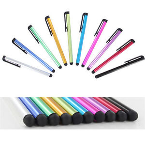 Multicolor Black Clip Stylus Pen Clip Touch Screen Phone Tablet - Free Shipping