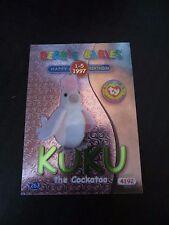 Ty Beanie Babies Series Ii S2 ~ Green ~ Birthday Bboc Card 263 Kuku the Cockatoo