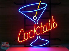 """Cocktail Cup Neon Sign 17""""x14"""" From Usa"""