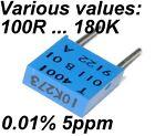0.01% 5ppm 0.5W Very High Precision Vishay SFERNICE Foil resistor VARIOUS VALUES