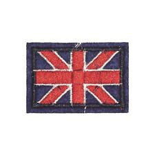 Blue Small Union Jack (Iron On) Embroidery Applique Patch Sew Iron Badge