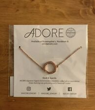 Adore Stack & Sparkle Rose Gold Plated Organic Circle Bracelet - NEW
