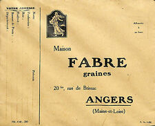 ANGERS ENVELOPPE MAISON FABRE GRAINES