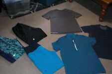 Lot of 3 pair of Mens Lululemon Shorts and 3 Tees sz M