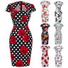 Vintage Retro 1950s 1960s Wiggle Pencil Housewife Retro Formal Party Swing Dress
