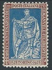 1928 REGNO FILIBERTO VITTORIA 20 CENT D.11 MH * - M18-7