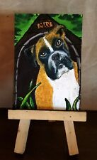 Aceo original Boxer dog painting